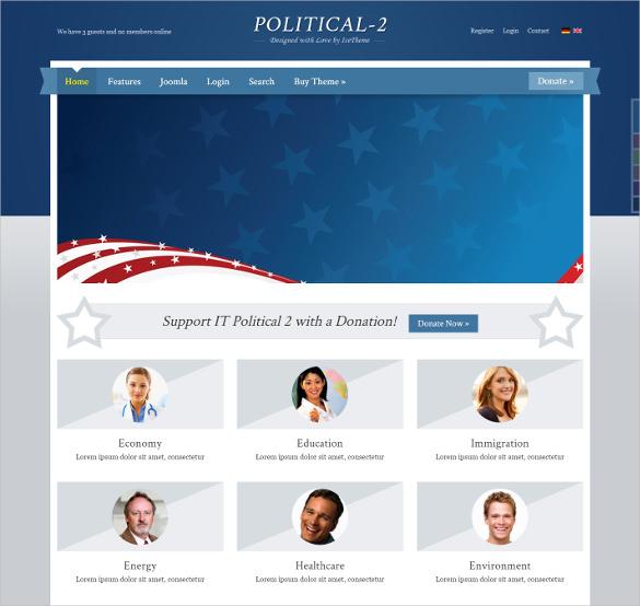 elegant political joomla theme