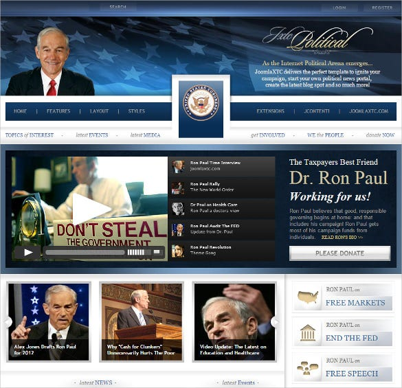 perfect political joomla template