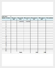 Sample Tenancy Inventory Template