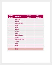 Personal Property Inventory List Free Download