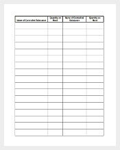 Sample Log Sheet Inventory Form Download