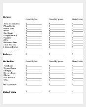 Personal Estate Plan Inventory Template PDF