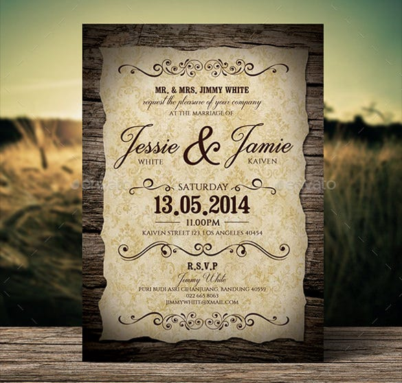 21  Vintage Wedding Invitation- Free PSD Format Download | Free ...