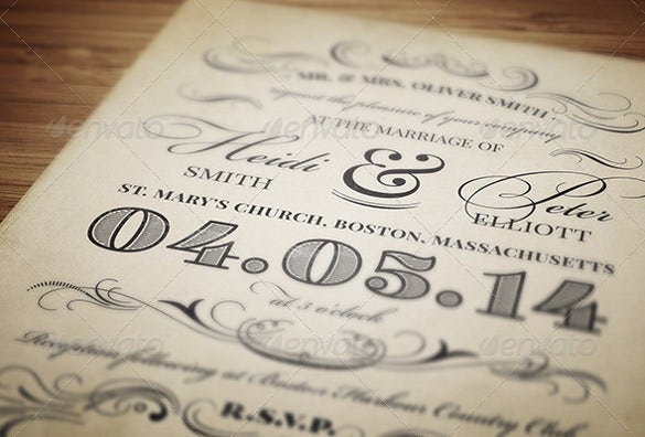 23+ Vintage Wedding Invitation- Free PSD Format Download | Free ...