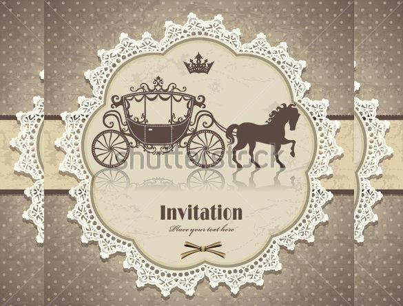 23  vintage wedding invitation