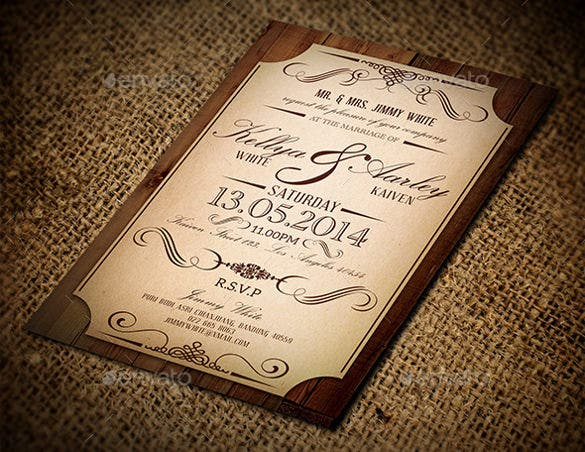 wedding invitation with vintage style - Vintage Style Wedding Invitations