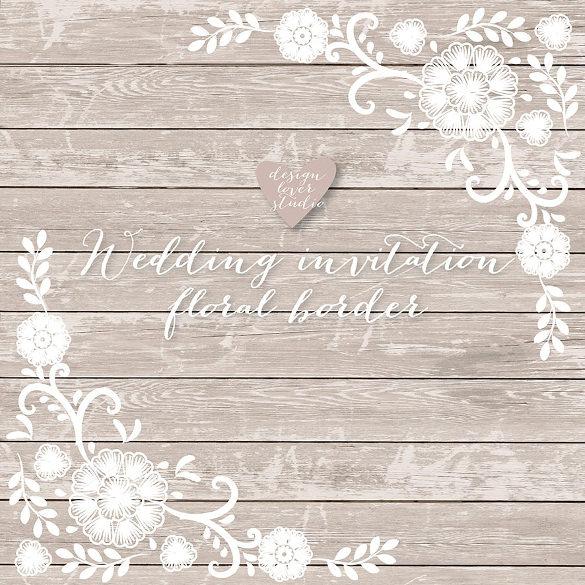vector invitation floral border