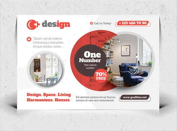 postcard templates for interior design