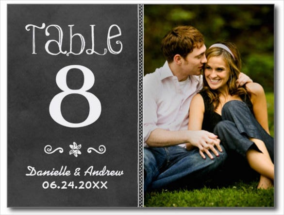 chalkboard style wedding photo postcard design