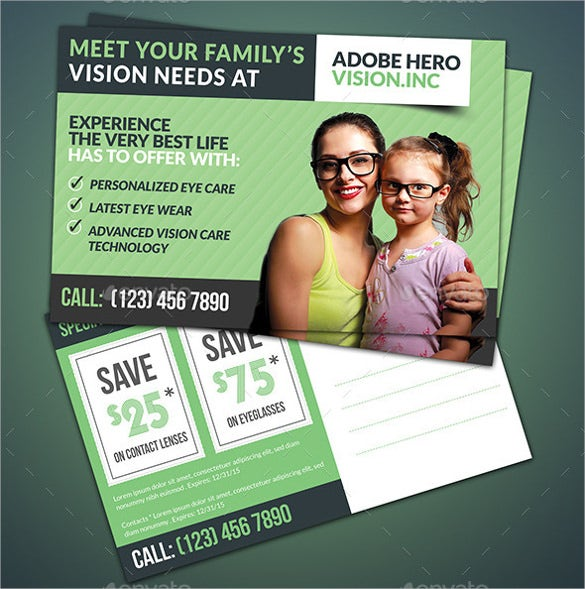 coupon postcard templates in psd