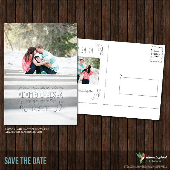 Postcard design template 34 free psd vector eps ai for Save the date templates free download