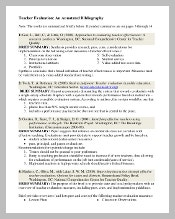 Example Teaching Annotated Bibliography