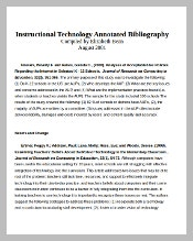 Free Downloadable Teaching Annotated Bibliography Format