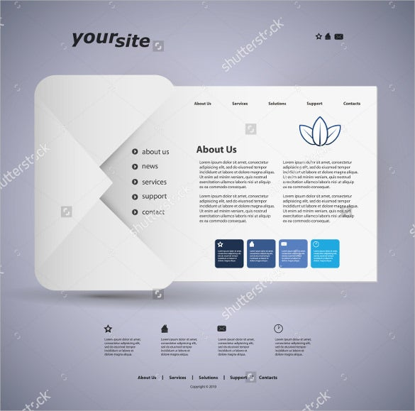 simple design postcard template for website