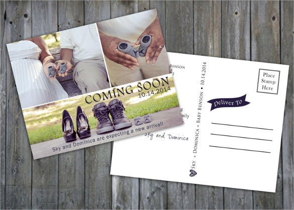 fully layered ps templates postcard design maternity announcement