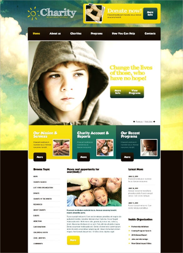 donate charity prestashop psd template