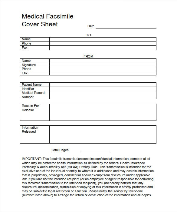 Fax Cover Sheet For Sending Resume