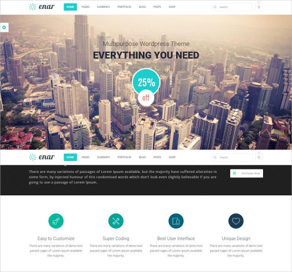 creative responsive multi purpose wordpress theme