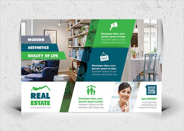 simple customizable real estate postcard template