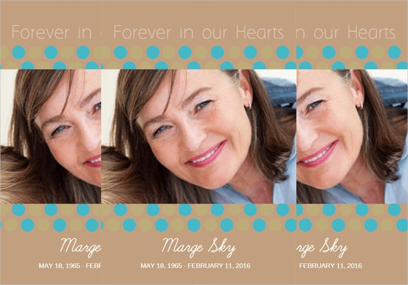 loving tribute memorial announcement template