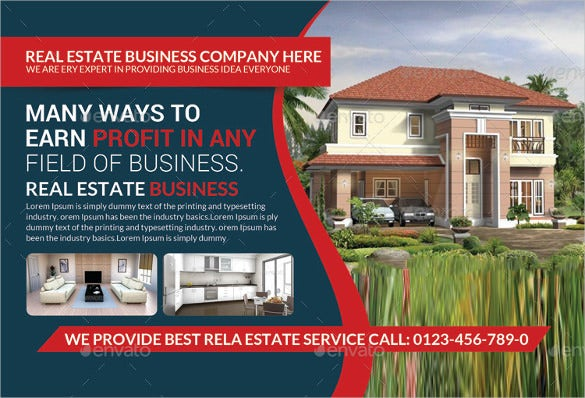 real estate postcard template reday for print