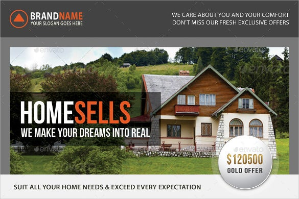 elegant real estate postcard template