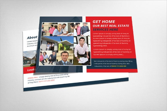 real estate postcard template for urban areas