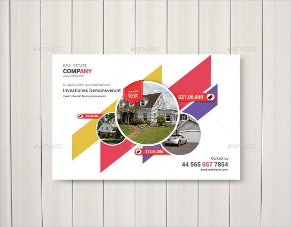 postcard template for real estate business