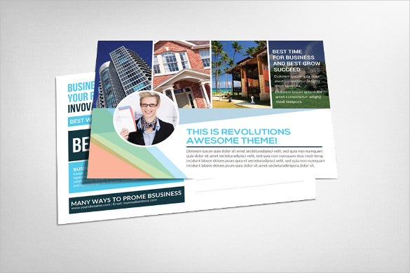 real estate postcard template in psd