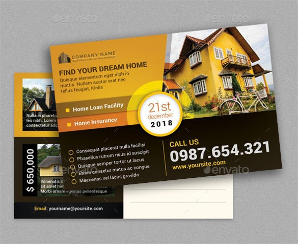 real estate post card invitation template