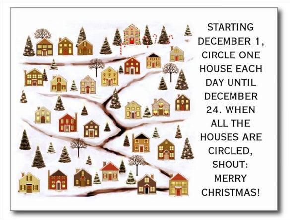 real estate christmas cards postcard template