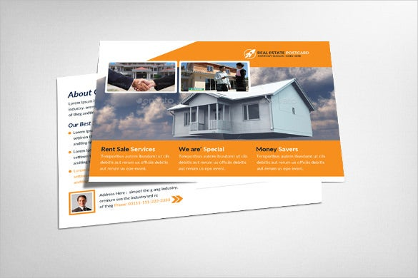 real estate postcard template for coastal areas