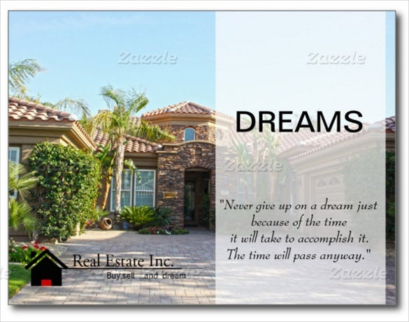 real estate postcard for dream house
