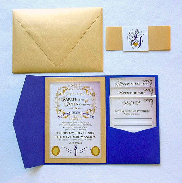pocket wedding invitation template- 17+ psd, jpg, indesign format, Wedding invitations