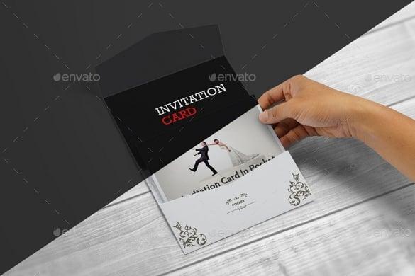postcard pocket wedding invitation