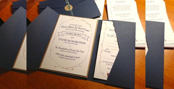 16  pocket wedding invitation templates