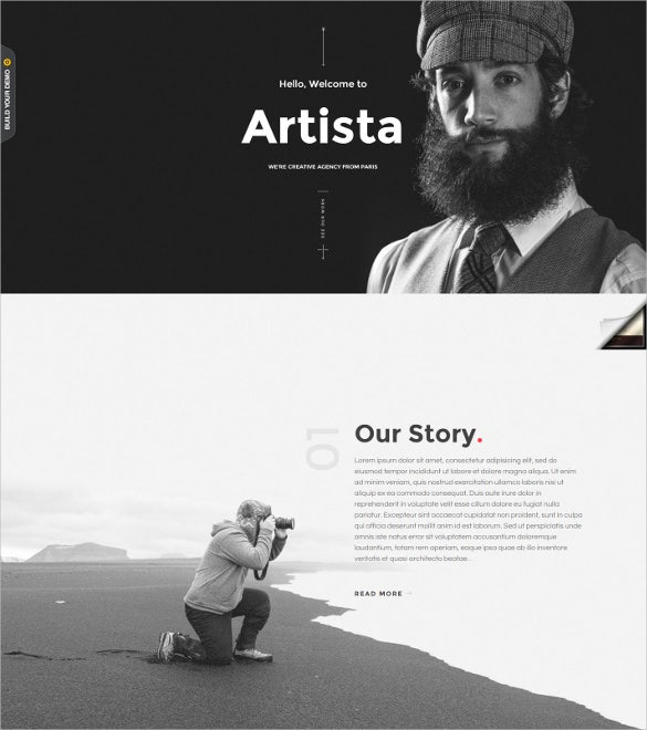 creative standout photography joomla portfolio template