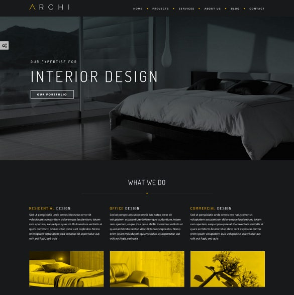 creative interior design joomla theme