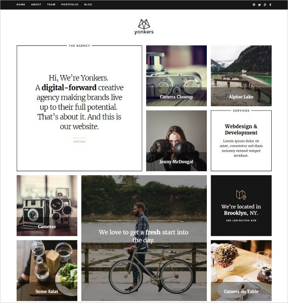 trendy portfolio joomla creative template