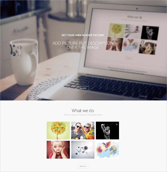 creativity one page joomla template2