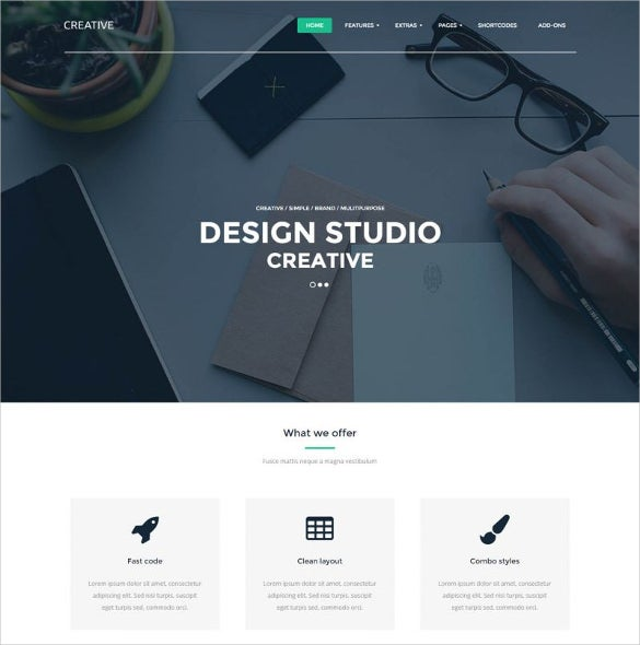 free design studio creative joomla theme