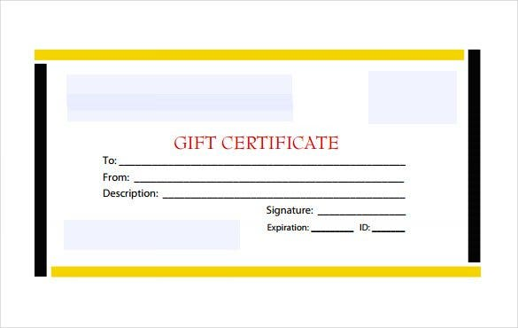 Blank Gift Certificate Template 17 Examples in PDF Word – Blank Gift Certificate Template