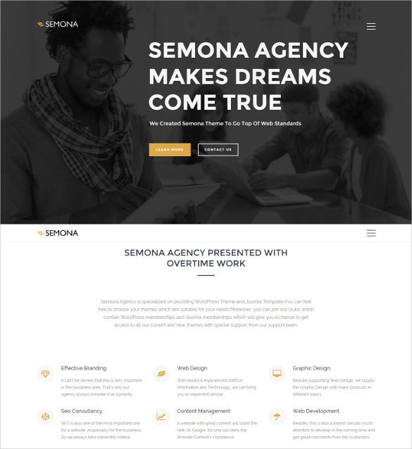 free creative agency joomla template