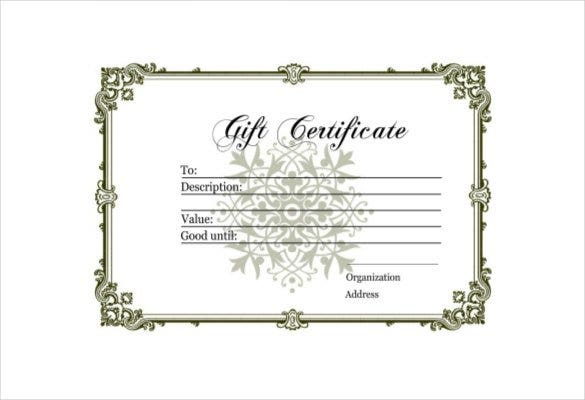 blank gift certificate free pdf template download 1