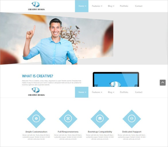creative responsive design joomla template