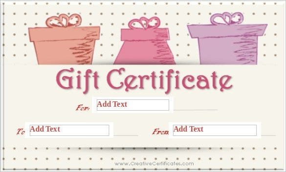 dot background blank gift certificate word templat