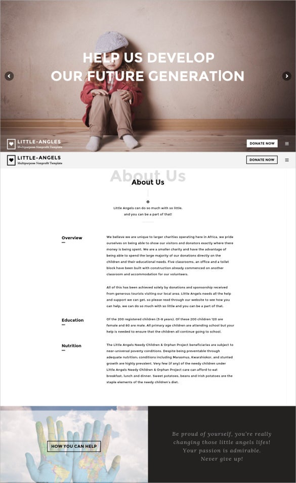 non profit charity wordpress theme