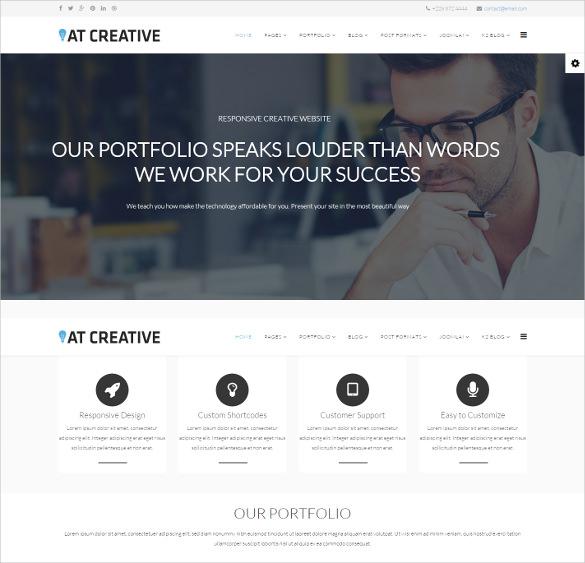 creative joomla mobile friendly template