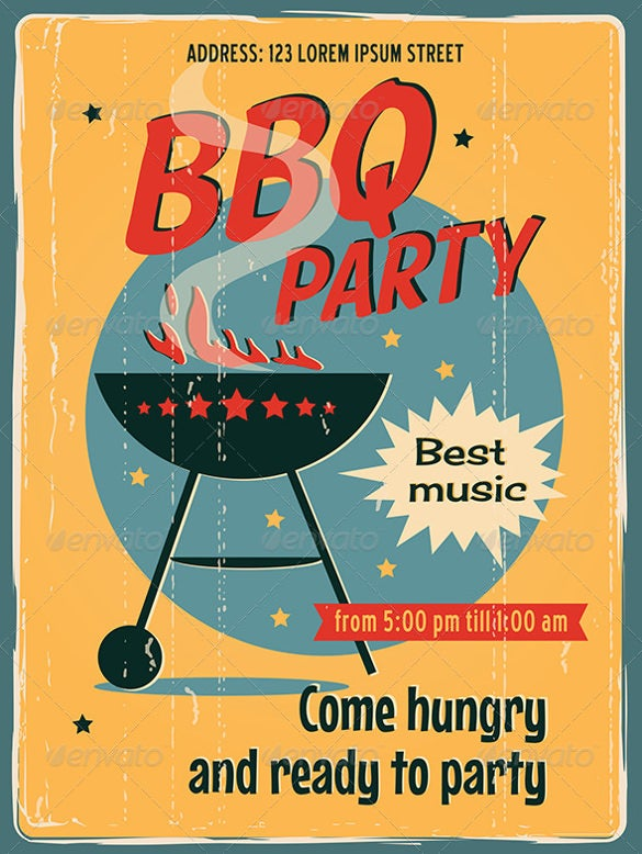 bbq picnic poster or invitation template