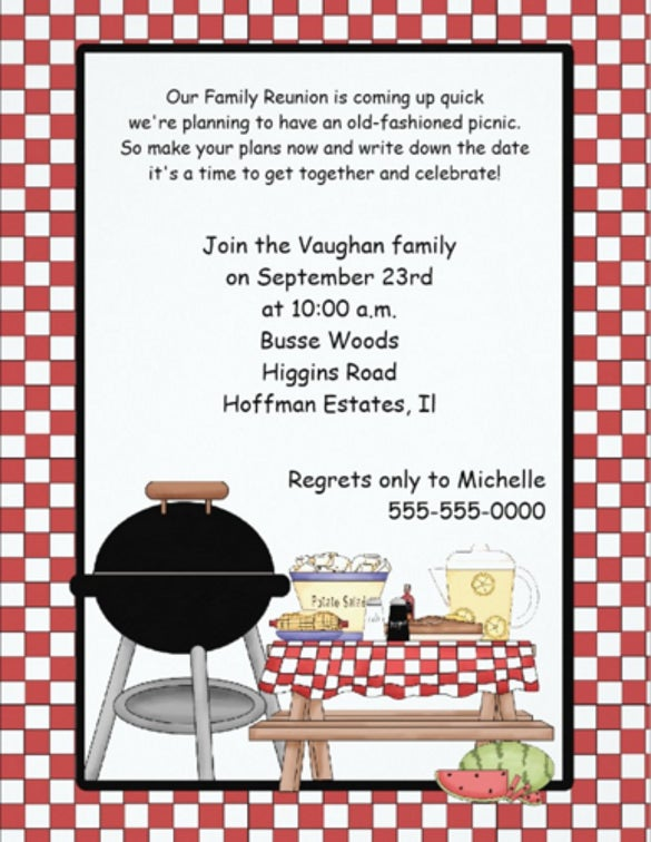 Picnic invitation template 26 sample example format download family reunion picnic invitation stopboris Choice Image